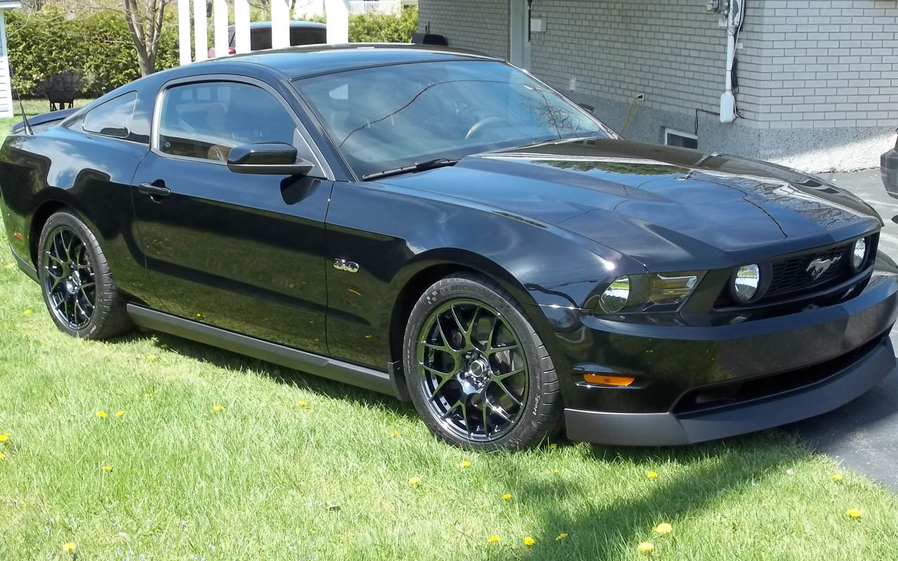 2011 noir ford mustang gt picture mods upgrades