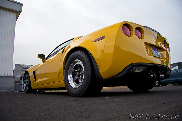 Yellow 2005 Chevrolet Corvette C6
