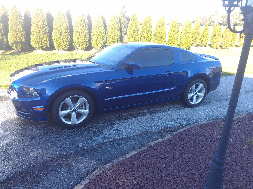 2013 Deep Impact Blue Ford Mustang GT Premium picture, mods, upgrades