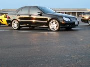 black 2006 Mercedes-Benz C55 AMG 4 door