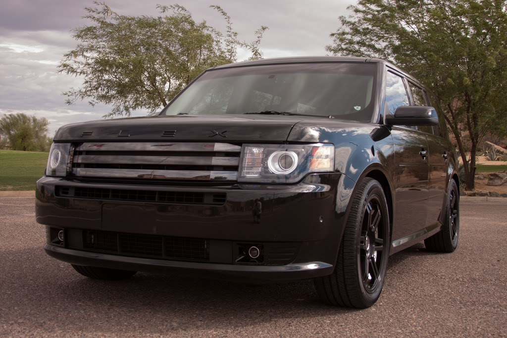 Black 2011 Ford Flex Titanium Ecoboost AWD