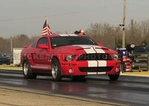 2007 Torch Red White Stripes Ford Mustang Shelby Gt500