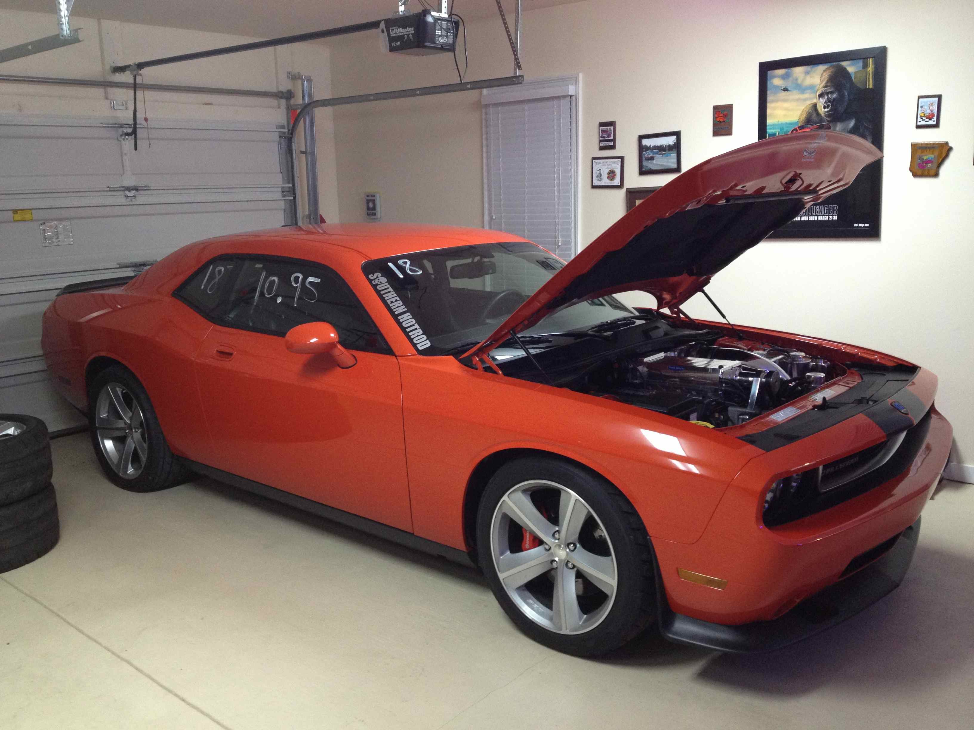 Orange 2008 Dodge Challenger SRT8
