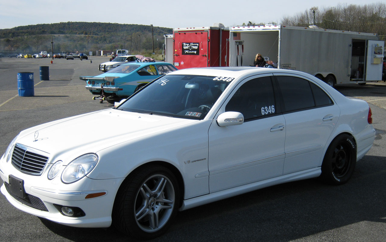 2005 alabaster white Mercedes-Benz E55 AMG  picture, mods, upgrades