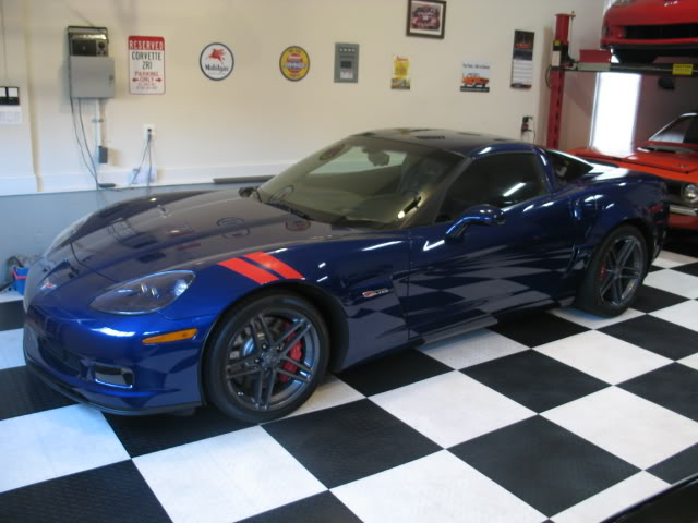 dark blue 2008 Chevrolet Corvette c6 zo6