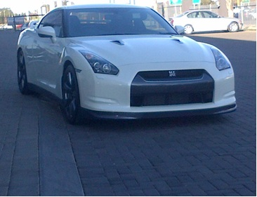 White 2011 Nissan GT-R Black Edition