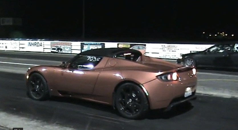 2010 Red Tesla Roadster  picture, mods, upgrades