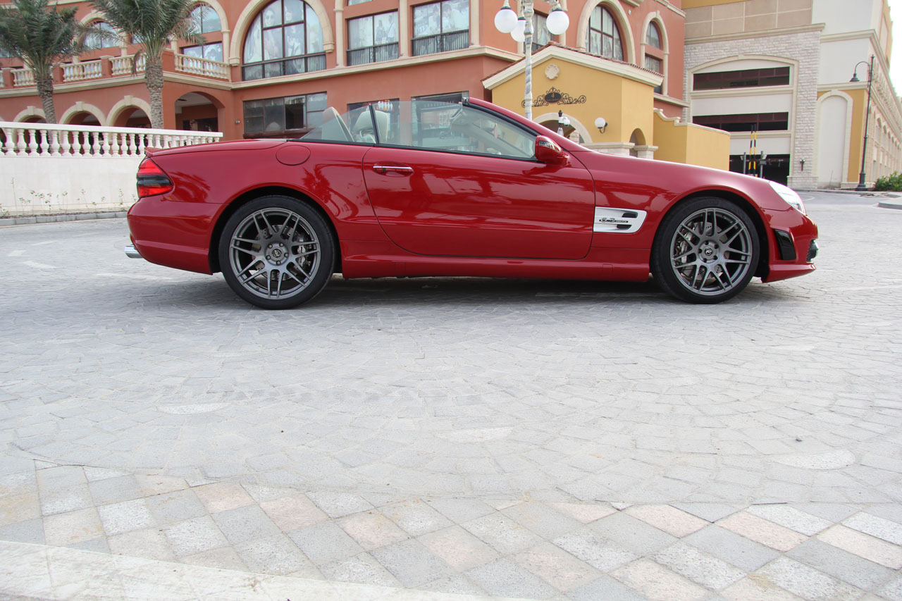 Mars Red 2009 Mercedes-Benz SL63 AMG AMG Weistec Supercharged