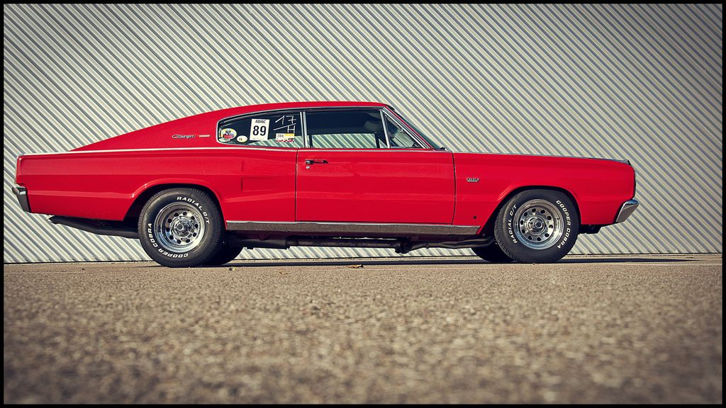 Red 1967 Dodge Charger