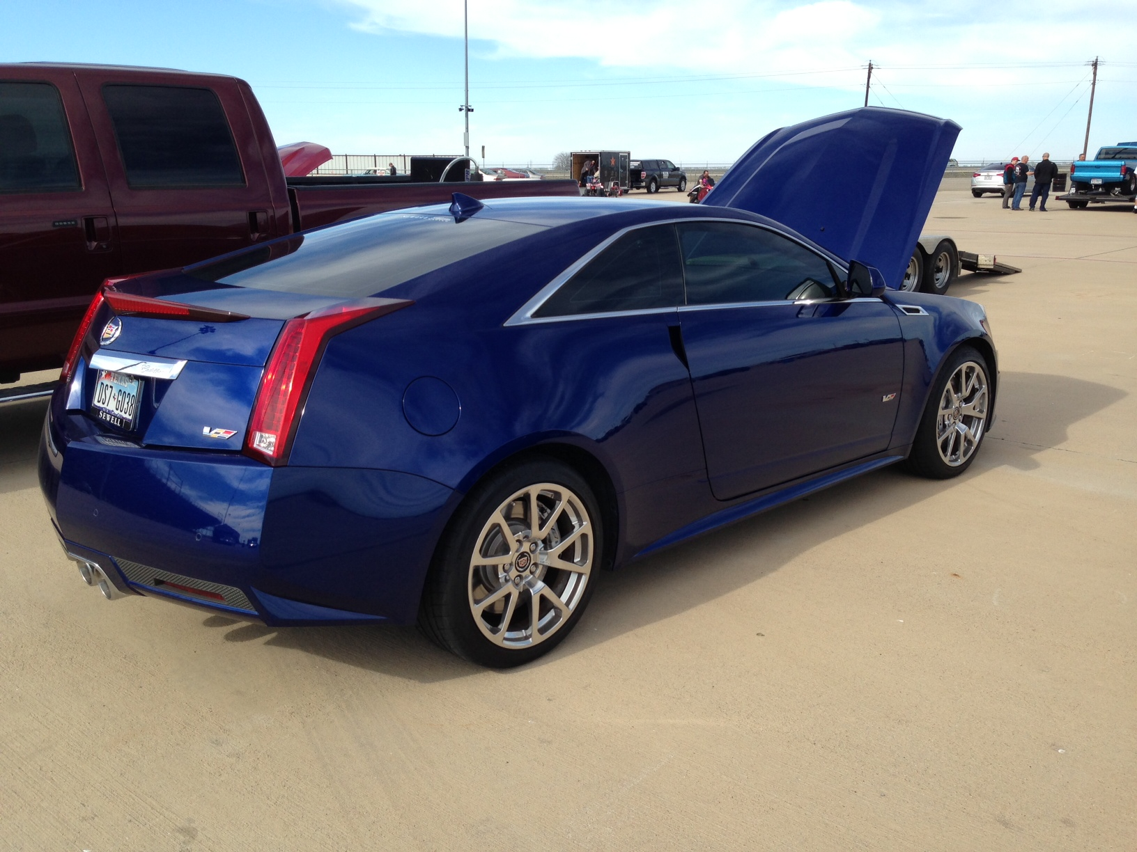 2012 Opulent Blue Cadillac CTS-V Coupe picture, mods, upgrades