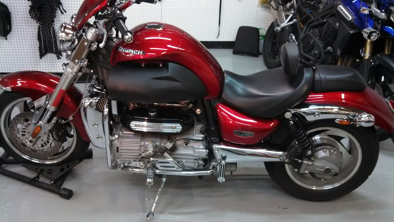 2005 Red Triumph Rocket III  picture, mods, upgrades
