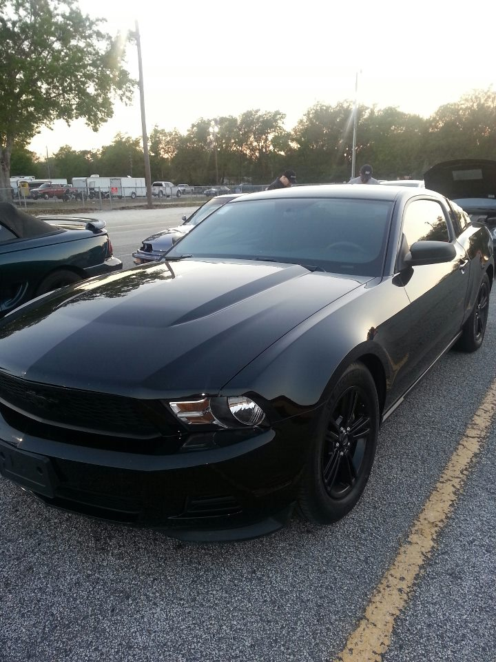 2012 Black Ford Mustang 3.7L NA picture, mods, upgrades