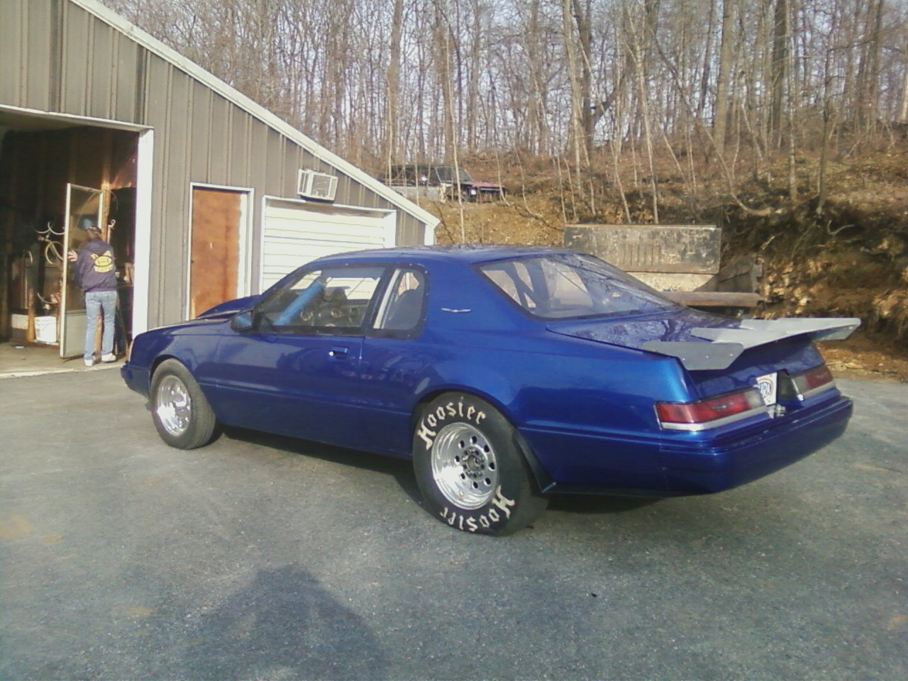 blue 1985 Ford Thunderbird turbo coupe
