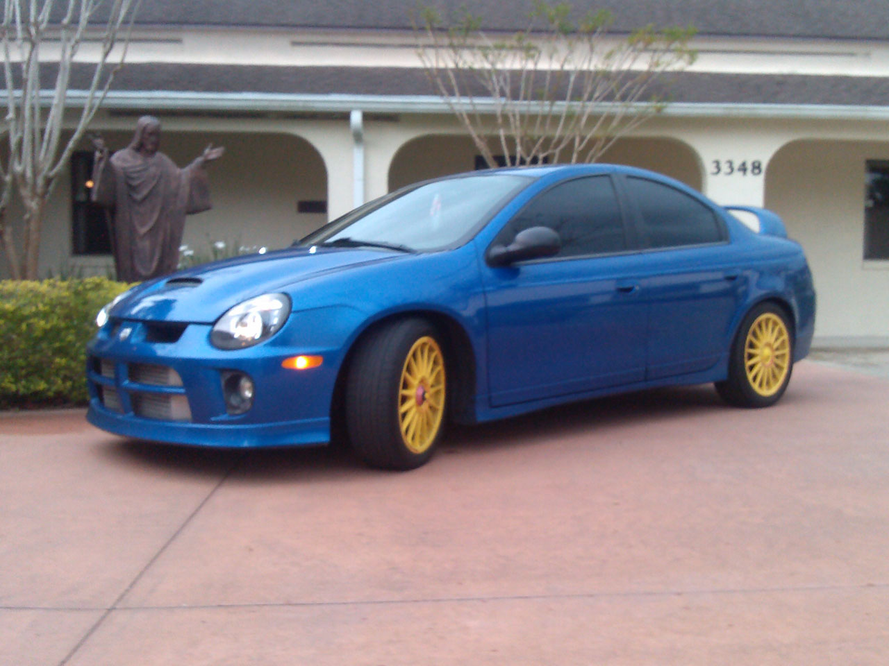Electric blue 2004 dodge neon srt 4