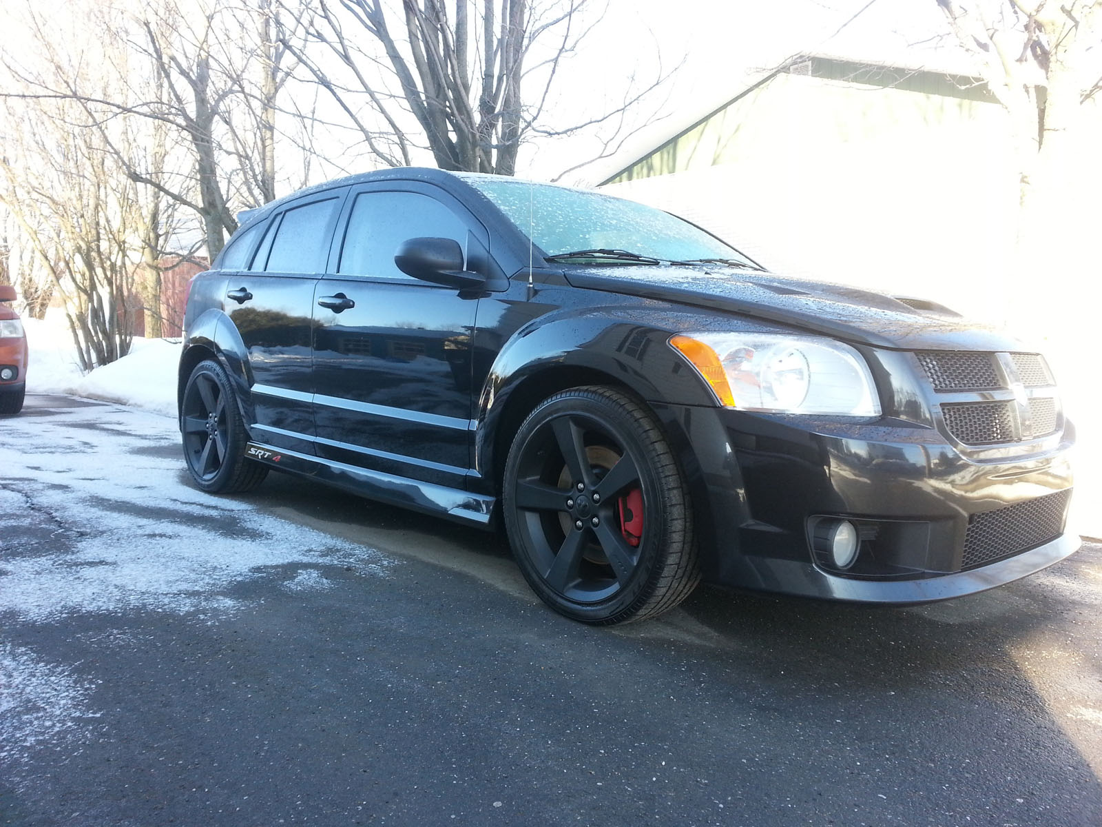 2009 black dodge caliber srt 4 pictures mods upgrades. Black Bedroom Furniture Sets. Home Design Ideas