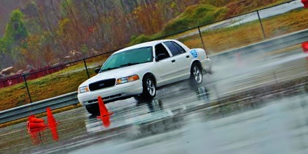 Performance White 2004 Ford Crown Victoria Police Interceptor P-71