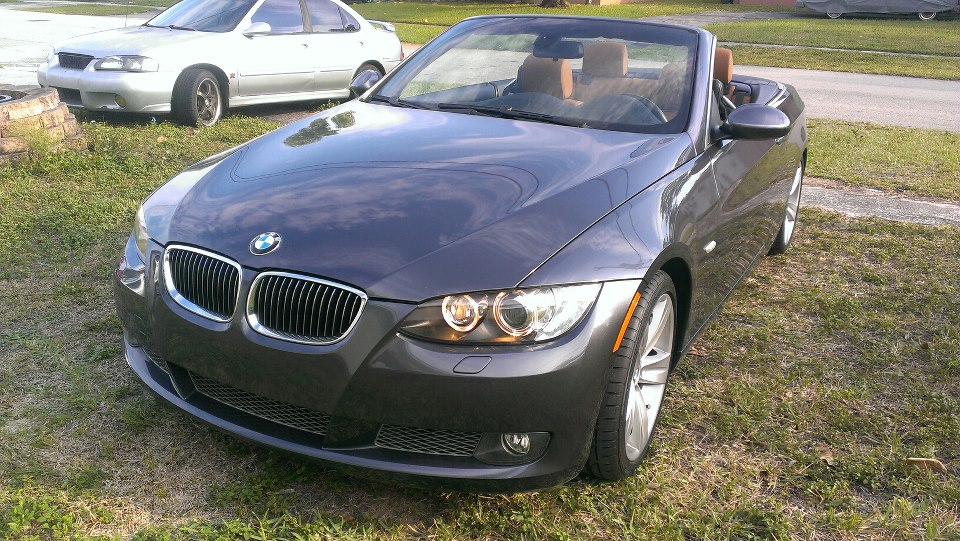 2007 BMW 335i Convertible e93 1/4 mile Drag Racing timeslip specs 0 ...