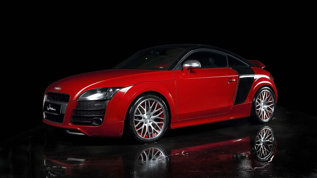 red/black 2009 Audi TT S APR Stage3