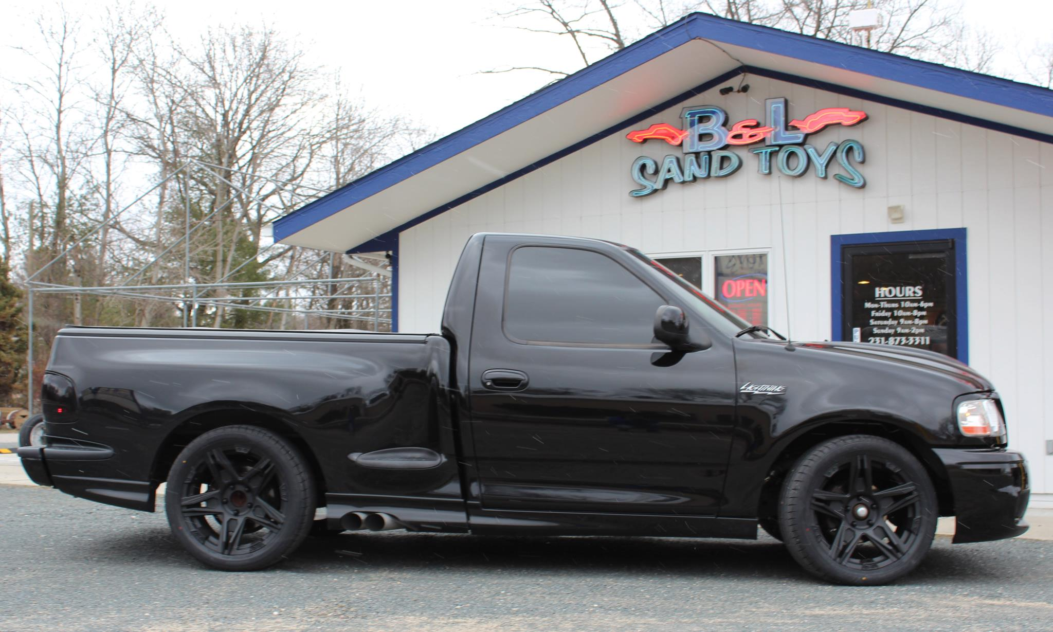 Black 2003 Ford F150 Lightning SVTF150