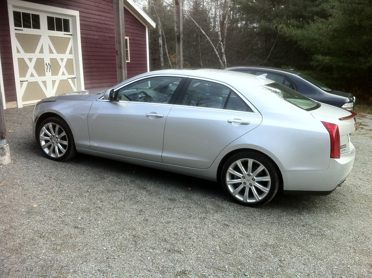 Metallic Silver 2013 Cadillac ATS 2.0T AWD Automatic