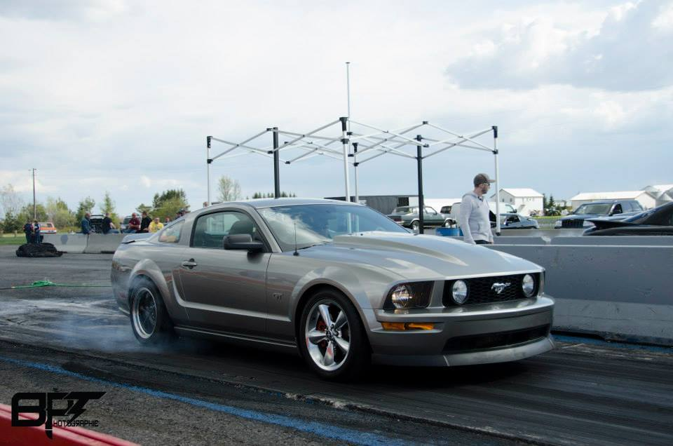 2008 Ford Mustang GT 1/4 mile Drag Racing timeslip specs 0-60
