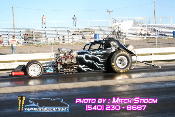 black 1948 Dragster Front Engine Fuel Altered Fiat Topolino