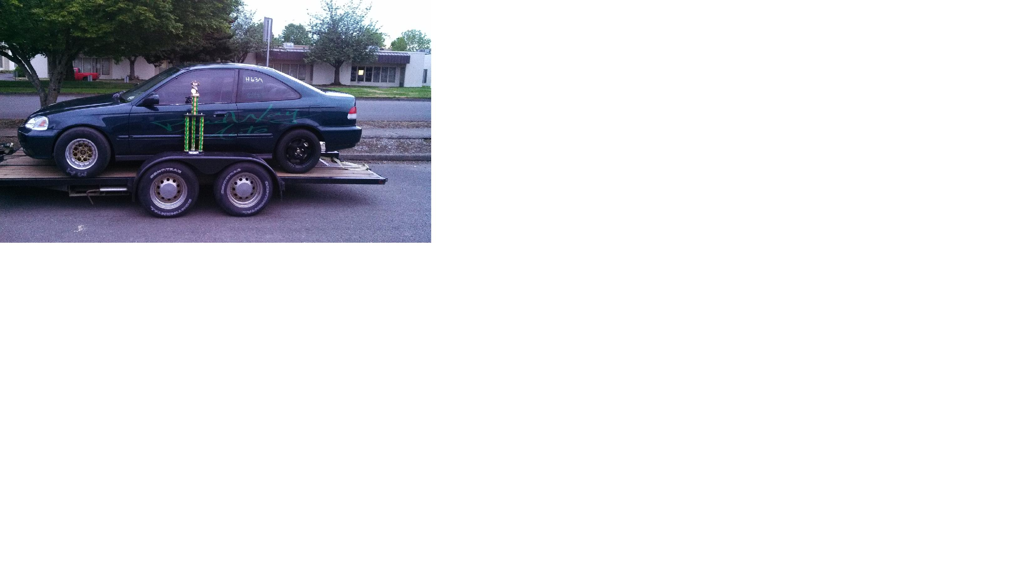 1996 Green Honda Civic EX Coupe picture, mods, upgrades