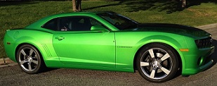 Synergy Green Metallic 2011 Chevrolet Camaro SS