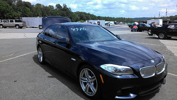 Stock 2013 BMW 550i Xdrive 1/4 mile Drag Racing timeslip specs 0-60 ...
