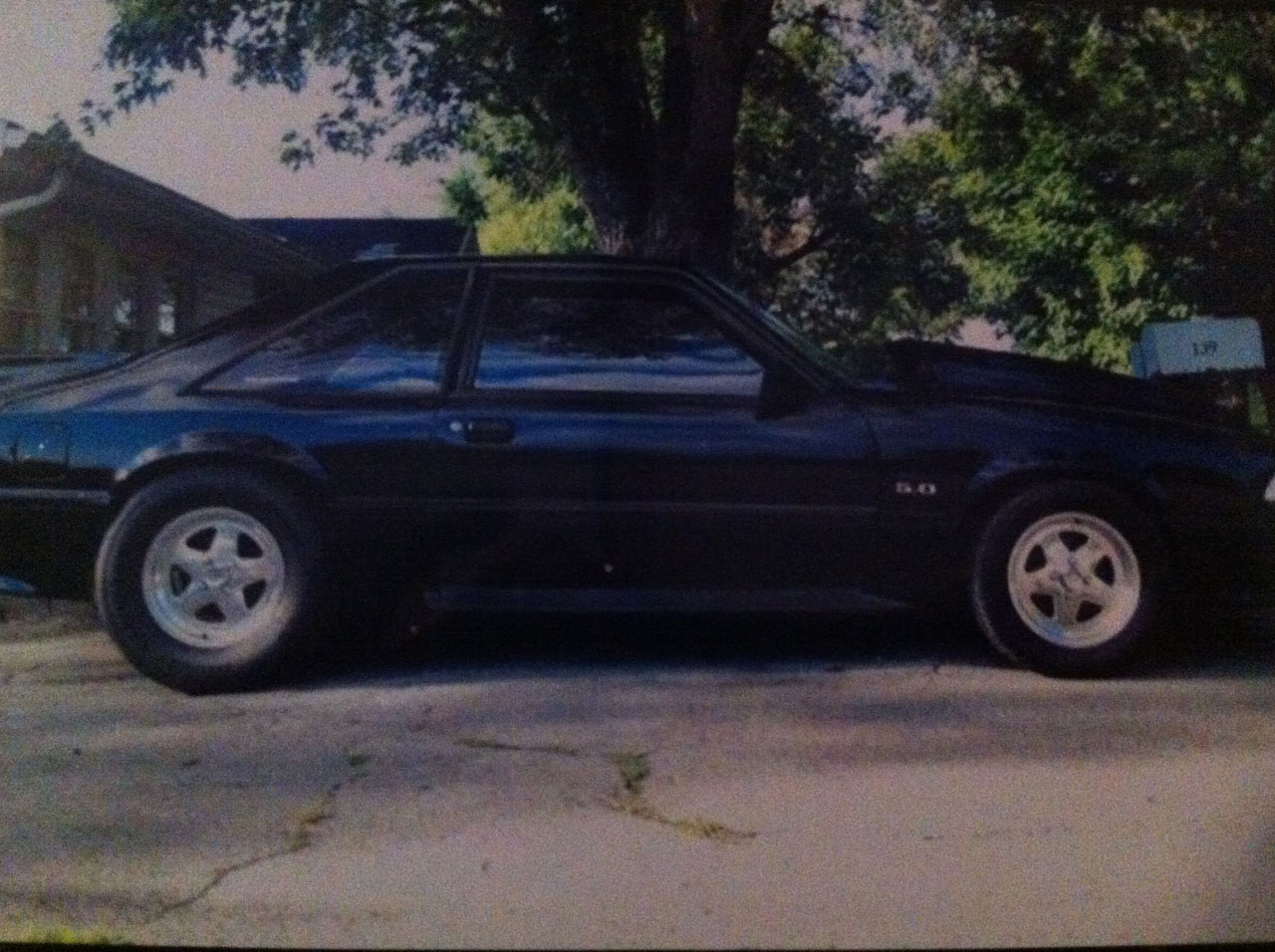 Black 1989 Ford Mustang GT