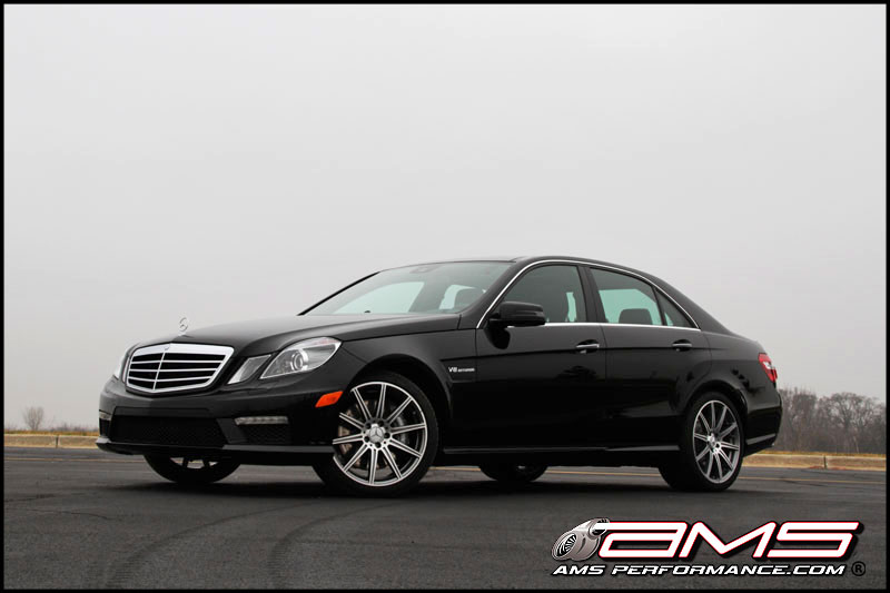 Black 2012 Mercedes-Benz E63 AMG BiTurbo AMS
