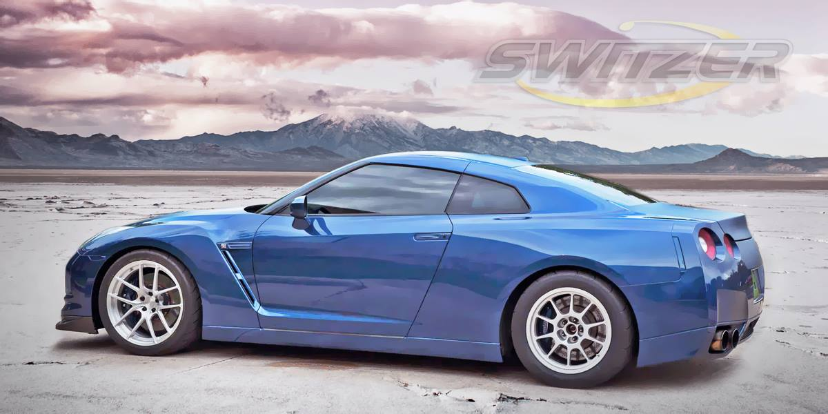2009 Blue Nissan GT-R Switzer E2K picture, mods, upgrades