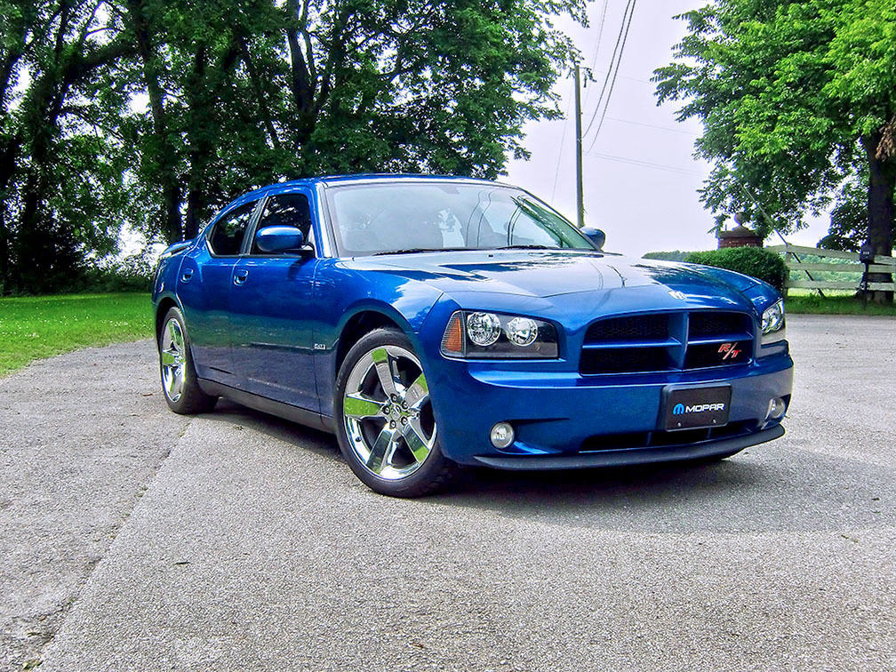 Deep Water Blue Pearl 2009 Dodge Charger R/T R&T