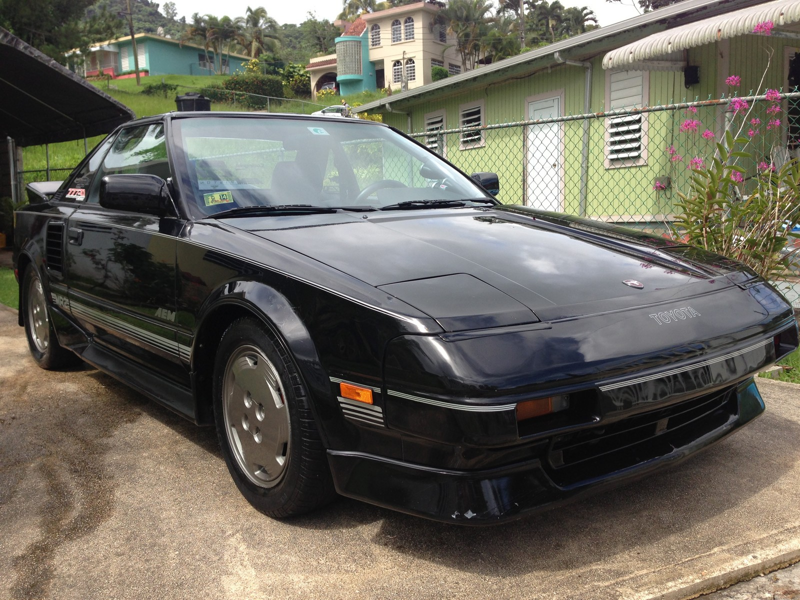 Black 1986 Toyota MR2 AW11