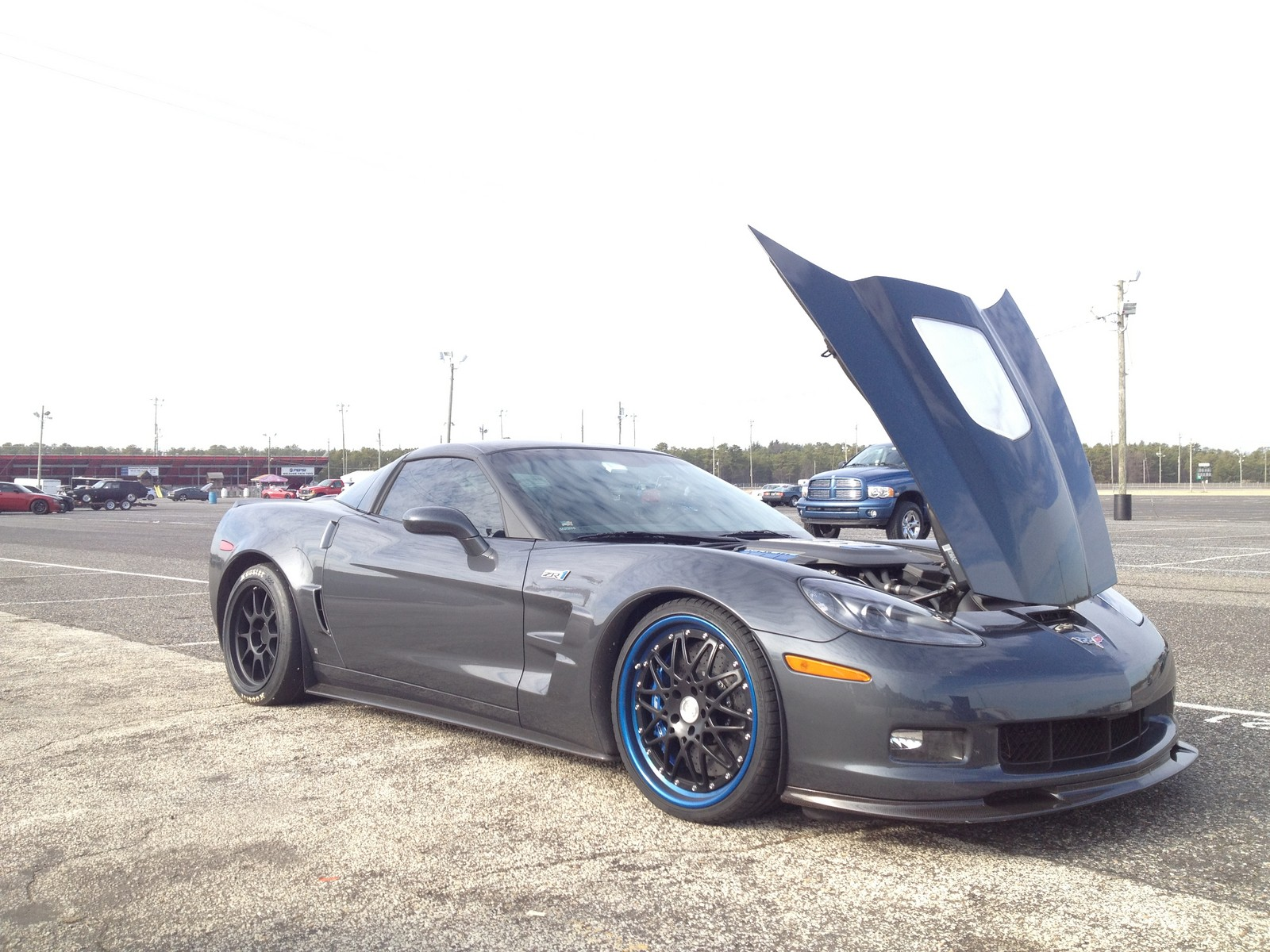 Cyber Grey 2009 Chevrolet Corvette ZR1 Header Tune