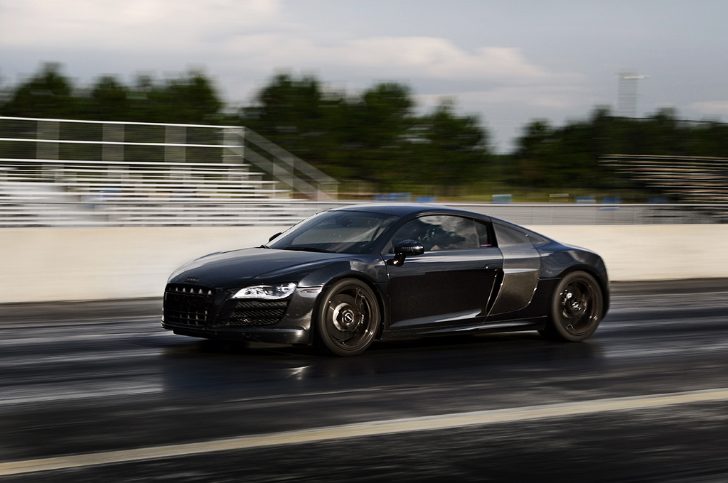 Black 2010 Audi R8 Coupe