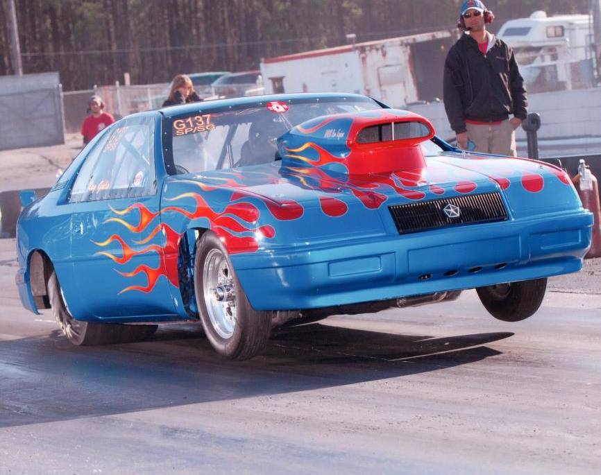 1988 Chrysler LeBaron 1/4 mile Drag Racing timeslip specs 0-60 ...