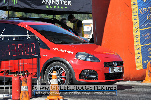 red 2010 Fiat Punto abarth