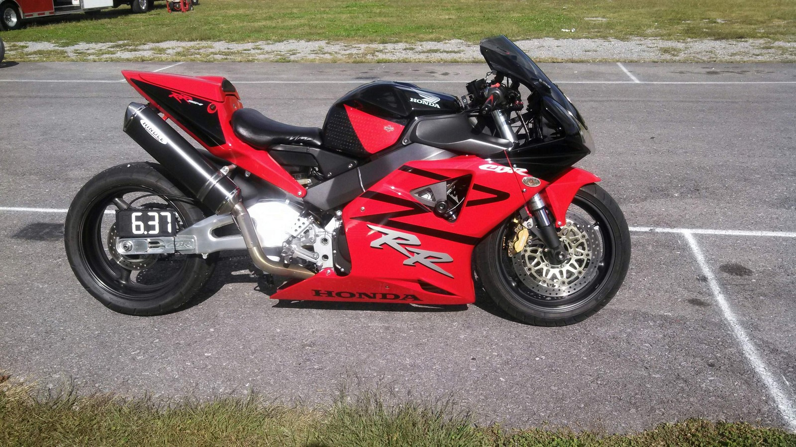 Red/Black 2003 Honda CBR 954RR