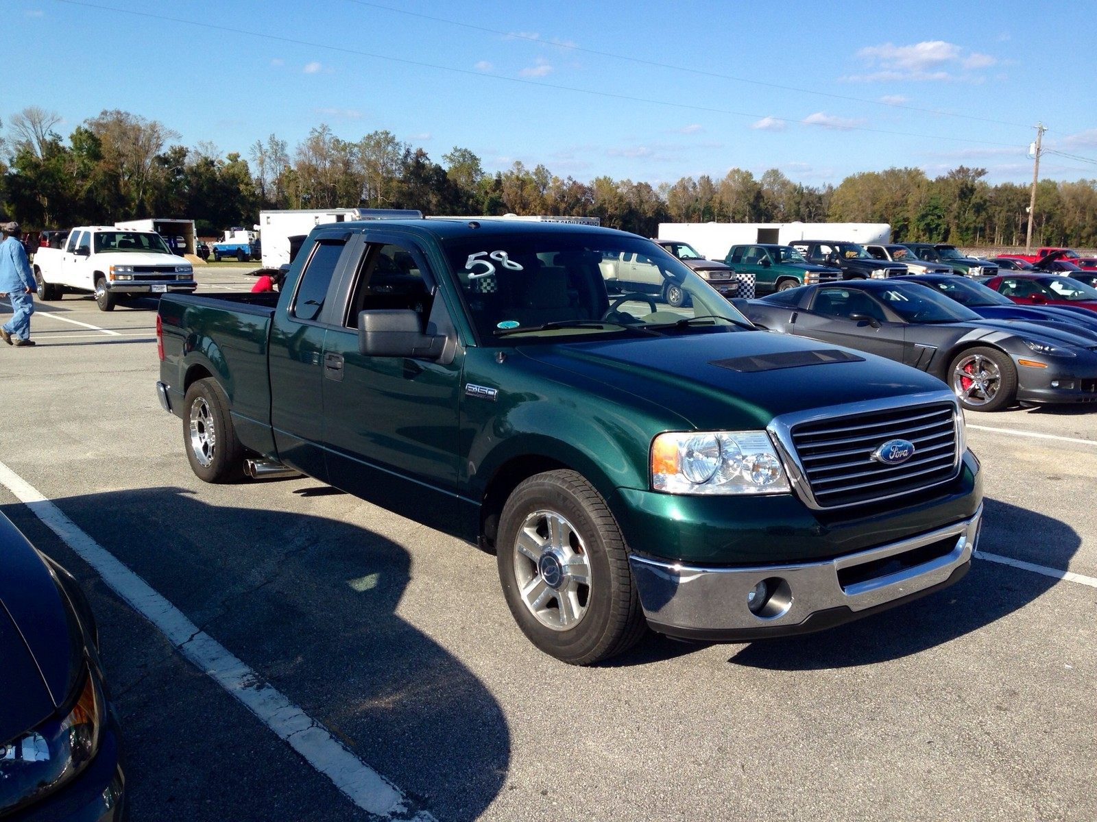 Green 2007 Ford F150 Super Cab XLT Whipple