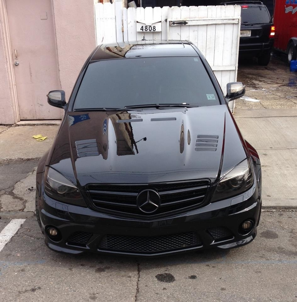 Black Custom Carbon blend 2009 Mercedes-Benz C63 AMG MHP Stage 2 P30 AMG Performance pkg.