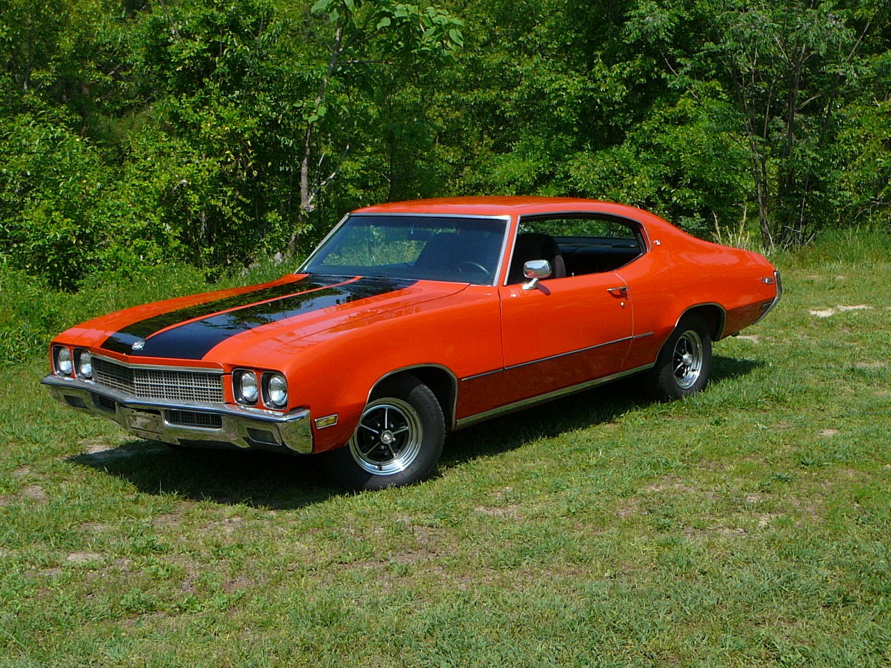Orange/Black 1972 Buick Skylark Custom
