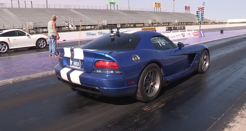 Blue White Stripes 2006 Dodge Viper Supecharged and Nitrous