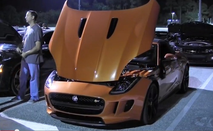 Orange 2014 Jaguar F-Type S