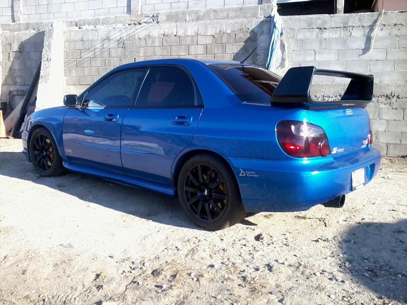 2004 Blue Subaru Impreza Sti Pictures Mods Upgrades