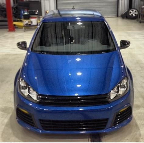 Rising blue 2013 Volkswagen Golf R