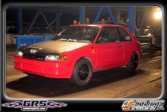 Red 1995 Mazda 323 AJENA RACING ALL MOTOR