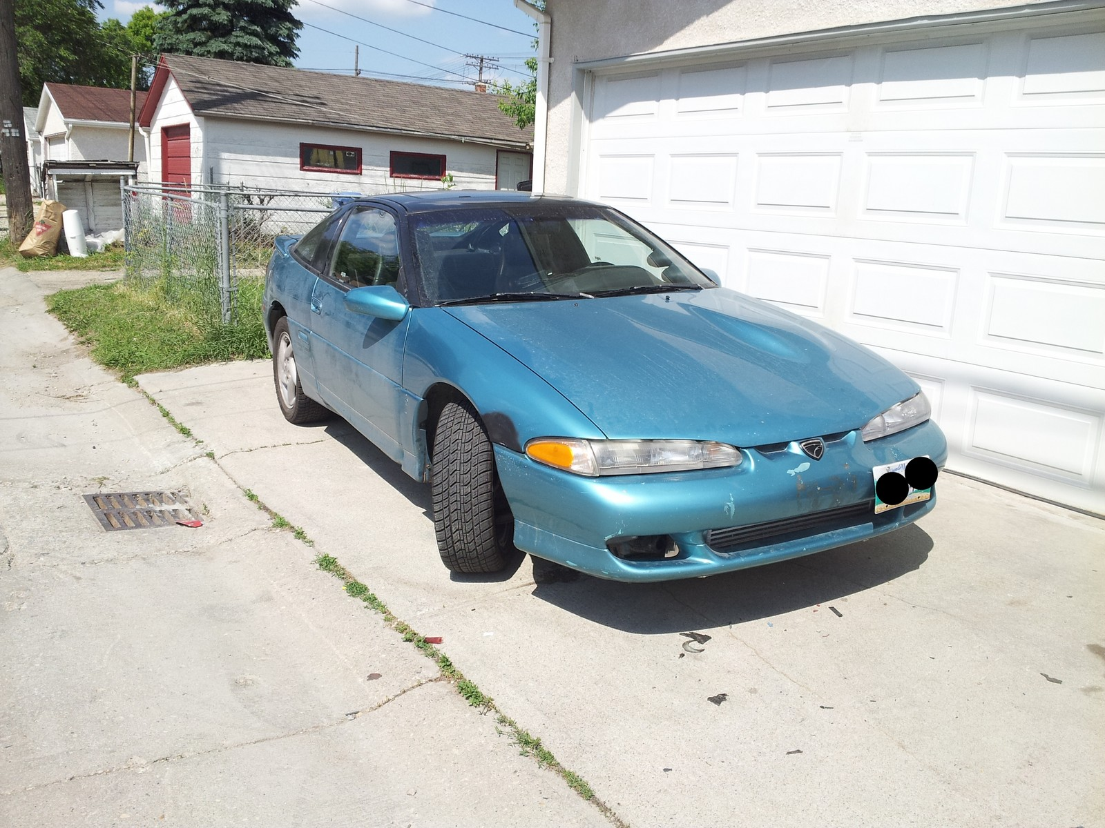 teal 1992 Eagle Talon TSI AWD