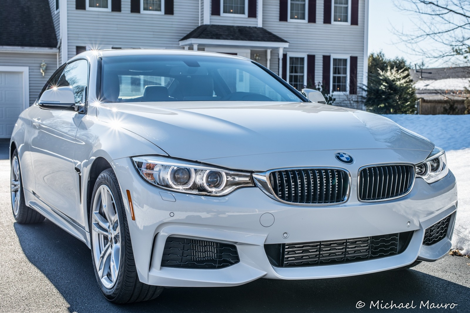 Alpine white 2014 BMW 435i Xi