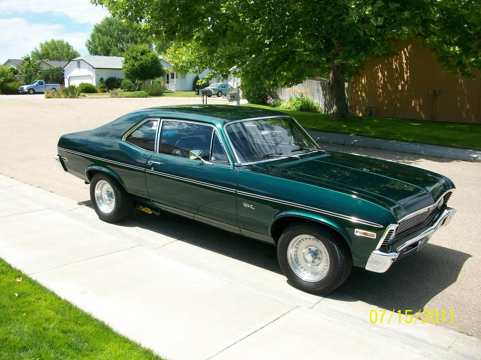 Forest Green 1972 Chevrolet Nova 2 Dr